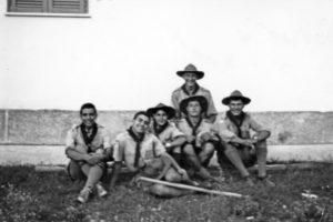Agosto 1961: Un gruppo di Rover del Clan Nicastro I al Campo di Adami