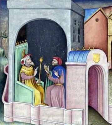 """Prima giornata del Decameron. Terzo racconto: """"La novella di Melchisedech giudeo"""" 20170523-Melchisedech-e-il-Saladino"""